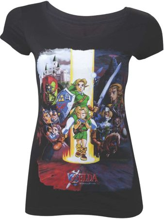 The Legend of Zelda: Ocarina of Time 3D Damen T-Shirt: Charaktere