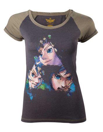 The Legend of Zelda: Skyward Sword Damen T-Shirt: Triforce Faces