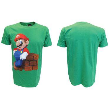 Super Mario T-Shirt: Mario Block Grün