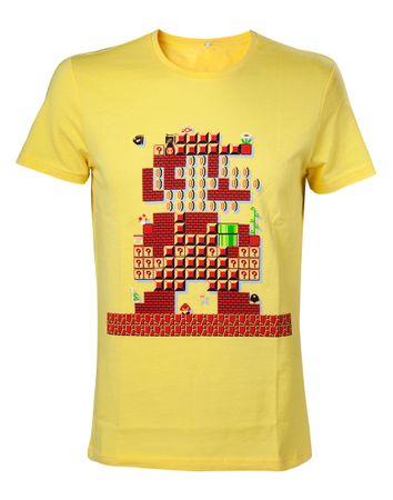 Super Mario Bros. T-Shirt: 30. Geburtstag [Gelb]