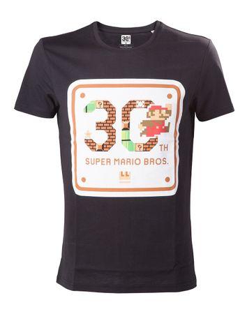 Super Mario Bros. T-Shirt: 30. Geburtstag [Schwarz]