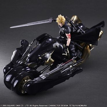Final Fantasy VII: Advent Children Play Arts Kai No. 10 Action Figur: Cloud Strife & Fenrir – Bild 4