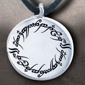 Herr der Ringe Anhänger: Elbenschrift [Sterling Silber
