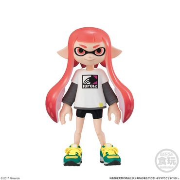 Splatoon 2 Kisekae Gear Collection 2 Trading Figur: #2 Inkling-Mädchen [Orange] & Sagitron Longsleeve [Weiß]