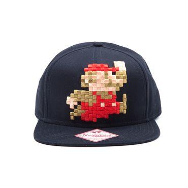 Super Mario Snapback Cap: Springender Mario [Pixel]