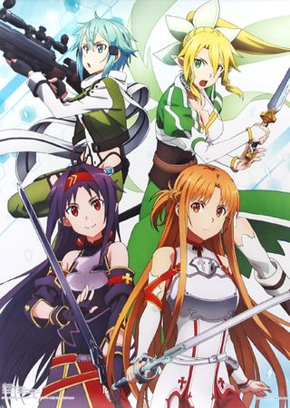 Sword Art Online Ichiban KUJI ~SAO WILL RETURN~ A-Preis A2 Wall Scroll: Heldinnen