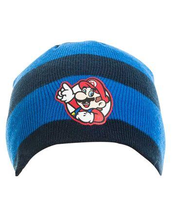 Super Mario Bros Beanie: Klassik-Mario [Gestreift]