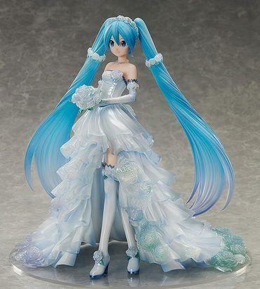 Vocaloid Character Vocal Series 01 1/7 Statue: Hatsune Miku [Wedding Dress Version] – Bild 3