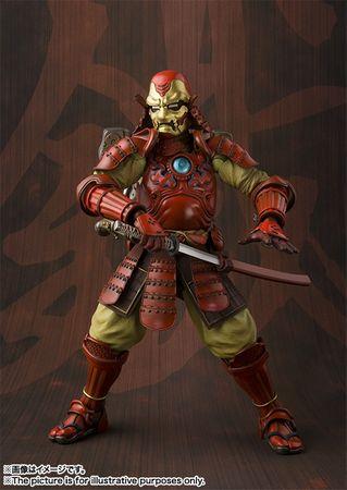 Marvel Comics Meishou Manga Realization Action Figur: Iron Man Mark III [Koutetsu Samurai Version] – Bild 5