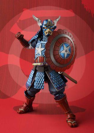 Marvel Comics Meishou Manga Realization Action Figur: Captain America [Samurai Version] – Bild 4