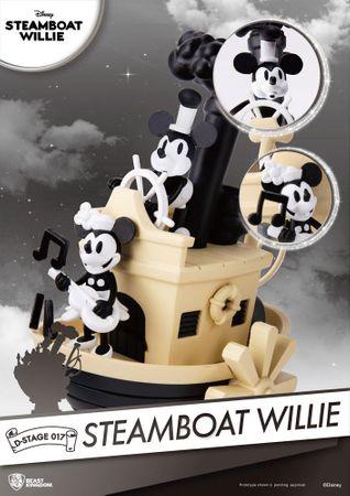 Disney D-Stage 017 Diorama Statue: Steamboat Willie – Bild 2