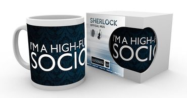 Sherlock 280ml Tasse: I'm A High Functioning Sociopath
