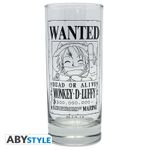 One Piece 290ml Glas: Wanted Monkey D. Ruffy 001