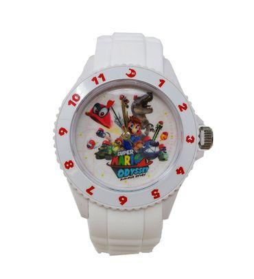 Super Mario Odyssey Silikon Armbanduhr: Mario & Cappy [Weiß]