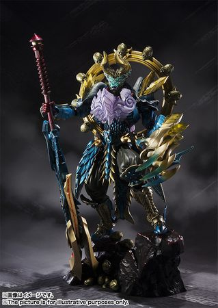 Monster Hunter S.H.Figuarts Tamashii Mix Action Figur: Zinogre-Rüstung