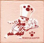 Monster Hunter Ichiban KUJI Felyne Kitchen Excursion Weather H-Preis Stoffserviette: Fleisch-Miauster [Rosa] 001