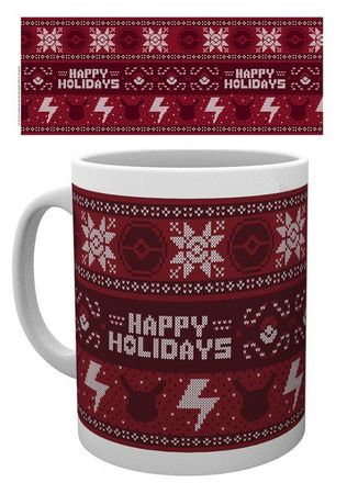 Pokémon 280ml Tasse: Weihnachts-Jumper [Happy Holidays]