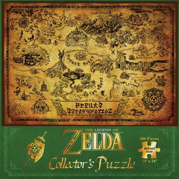The Legend of Zelda Collector's Puzzle: Karte von Hyrule [550 Teile] – Bild 2