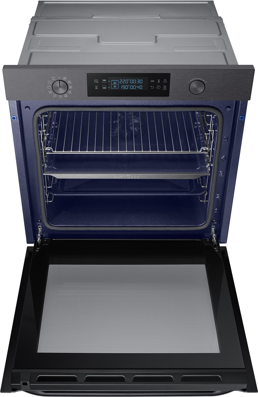 Samsung NV75M5571BM/EG Einbaubackofen 75l Pyrolyse Dual Cook Black Steel