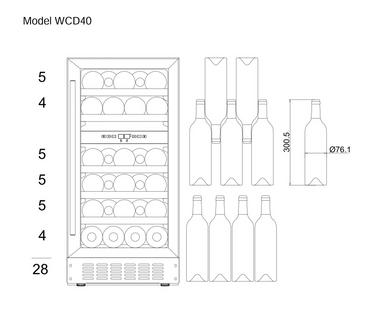 mQuvée Weinkühlgerät WineCave 700 40D Anthracite Black  WCD40AB
