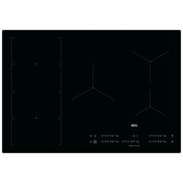 AEG Autarkes Kochfeld / Induktion / Hob²Hood / Slider-Bedienung / 80 cm / Aufliegend IKE85471IB