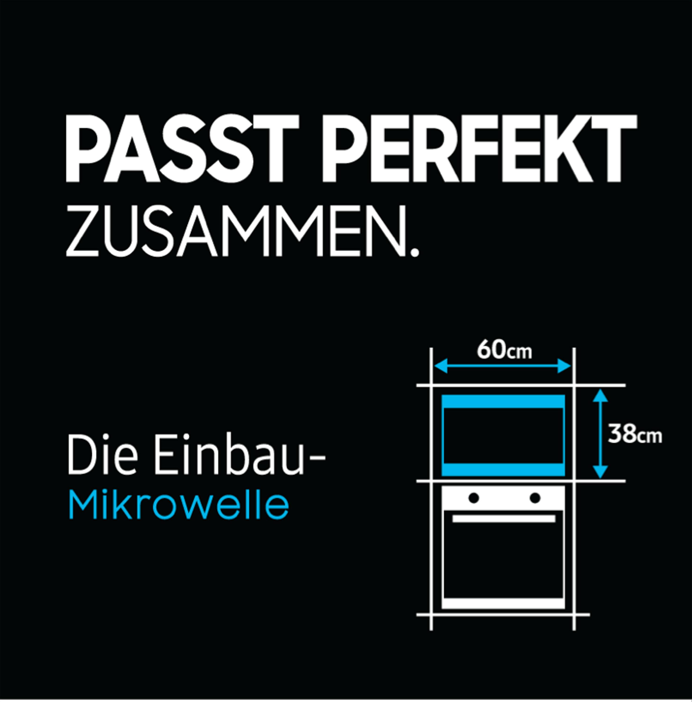 Samsung MG22M8074AT/EG 22 ℓ Einbau-Mikrowelle mit Grill