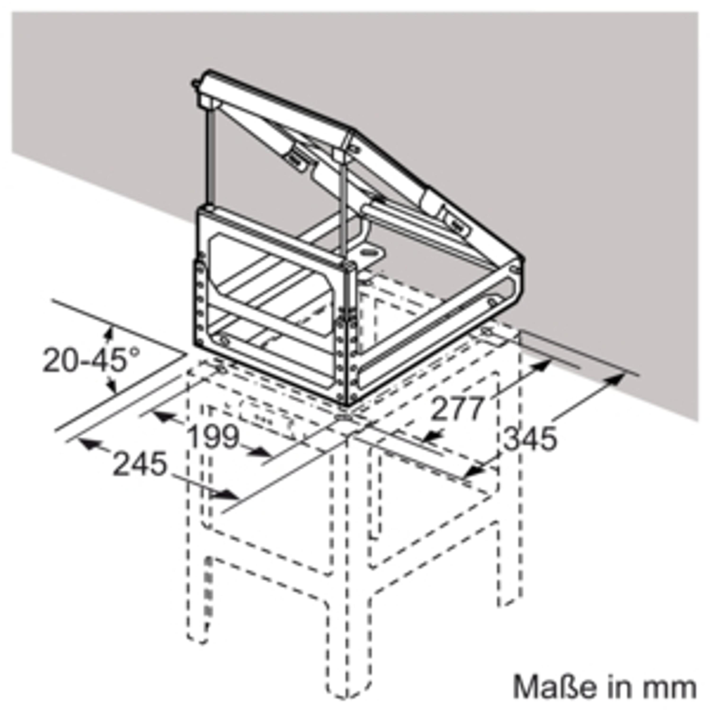 Siemens LZ12310 Adapter für Dachschrägen links / rechts