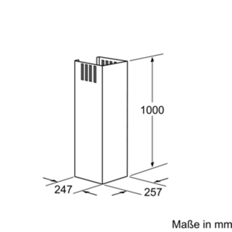 Bosch DHZ1225 Kaminverlängerung 1000 mm Edelstahl