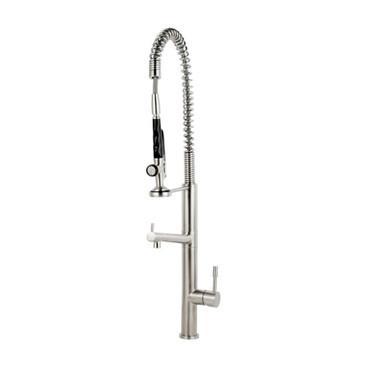 Caressi Edelstahl Armatur CA113I ECO PLUS, Küchenarmatur, wassersparend