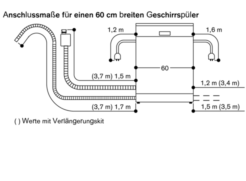 Gaggenau DF 115 115 Geschirrspüler Serie 115 Höhe 115,15 cm