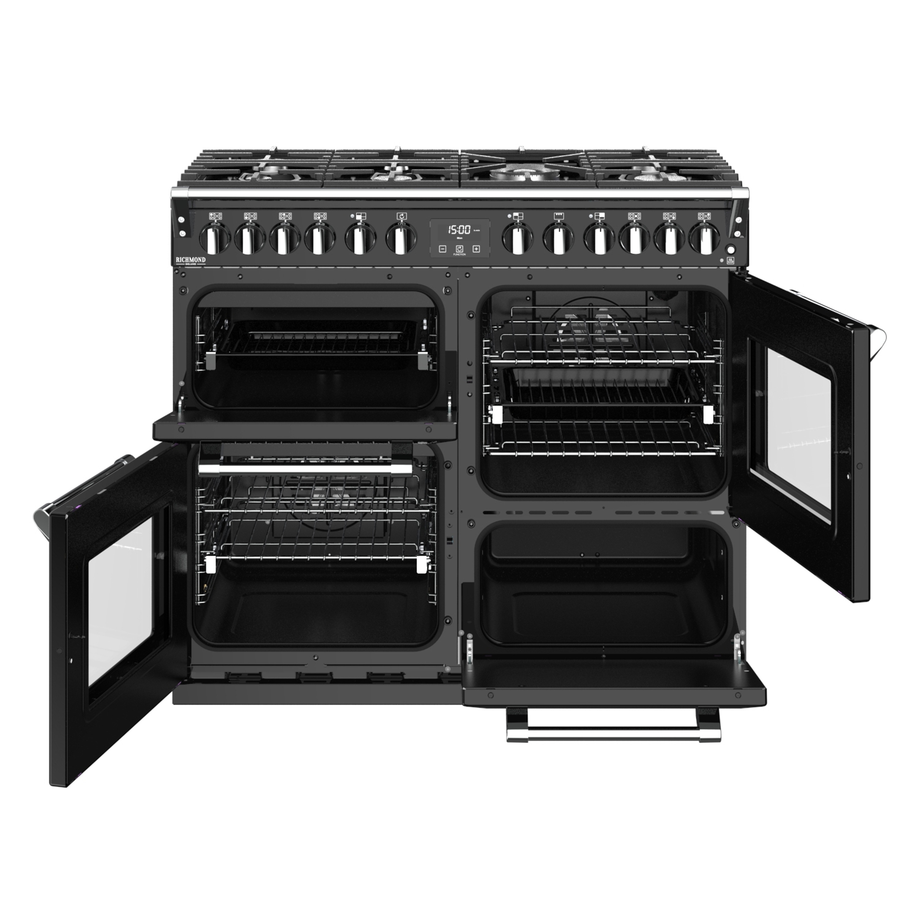Stoves Richmond Deluxe S1000  Gas Schwarz Range Cooker