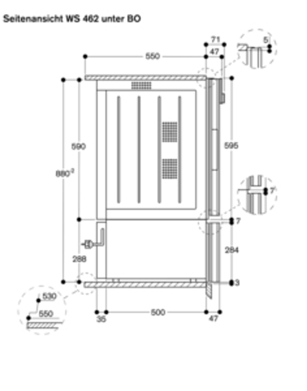 Gaggenau Wärmeschublade Glasfront in Gaggenau Anthrazit Breite 60 cm; Höhe 29 cm WS 462 100 Serie 400