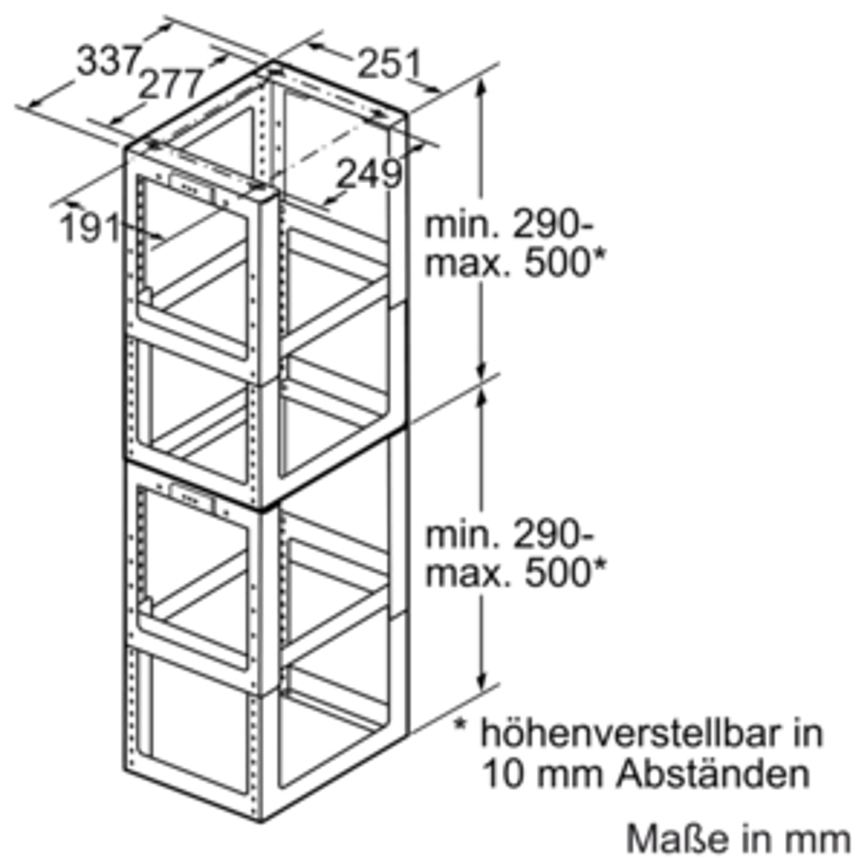 Siemens Montageturmverlängerung LZ1253, 1000 mm