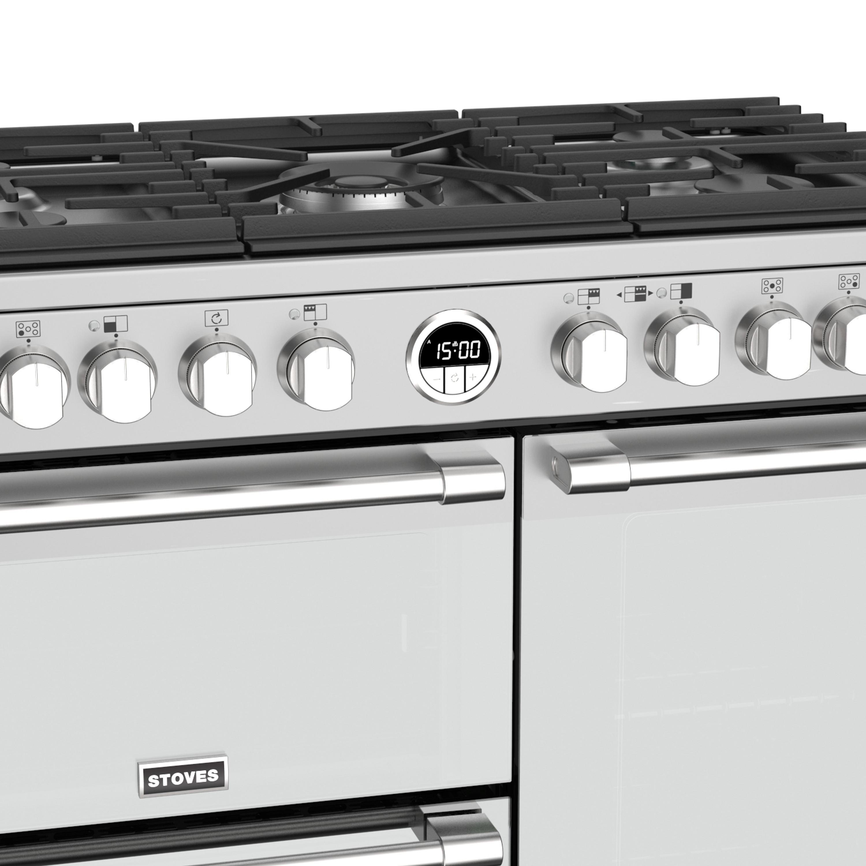 Stoves Sterling Deluxe S900 Gas Edelstahl Range Cooker