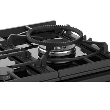 Stoves Sterling Deluxe S900 GTG Schwarz Range Cooker Gaskochfeld mit Glaskeramik