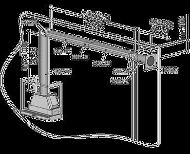 berbel Abluft-Set III – Flach 125 doppelt