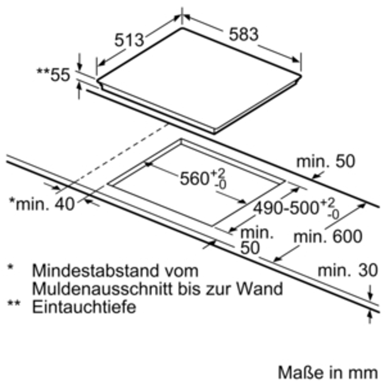 Bosch NIF645CB1E 60 cm Induktions-Kochfeld