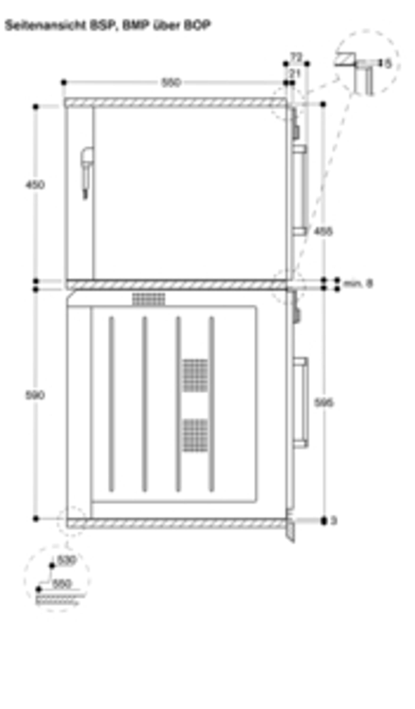Gaggenau Mikrowellen-Backofen Vollglastür in Gaggenau Silber Breite 60 cm Linksanschlag Bedienung oben BMP 251 130 Serie 200