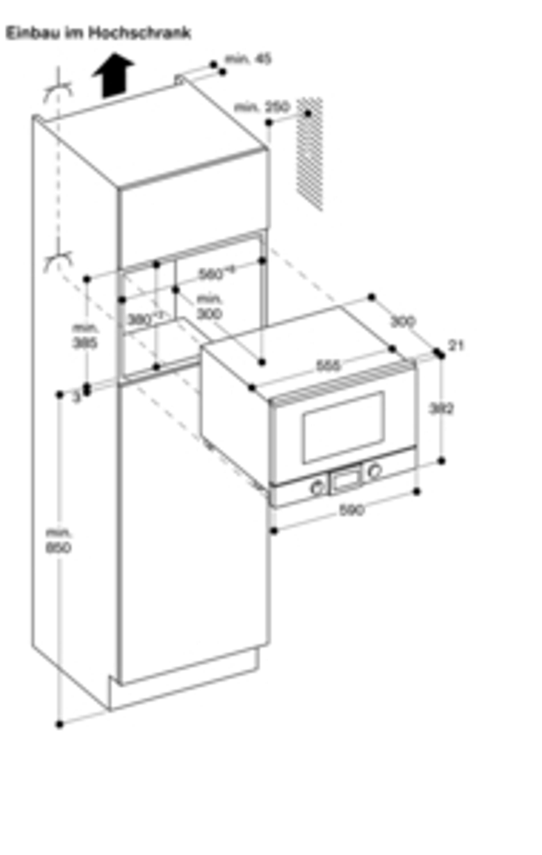 Gaggenau Mikrowelle Vollglastür in Gaggenau Silber Breite 60 cm Rechtsanschlag Bedienung unten BMP 224 130 Serie 200