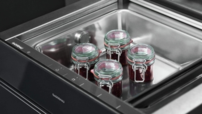 Gaggenau Vakuumierschublade Glasront in Gaggenau Anthrazit DVP 221 100 Serie 200