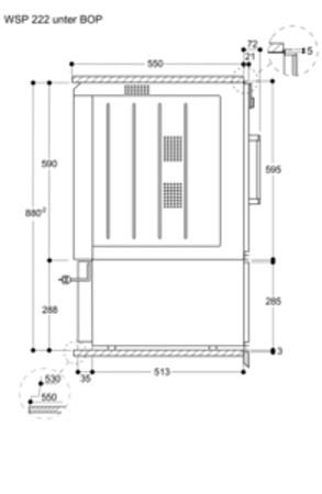 Gaggenau WSP 222 110 Wärmeschublade Glasfront in Gaggenau Metallic Serie 200