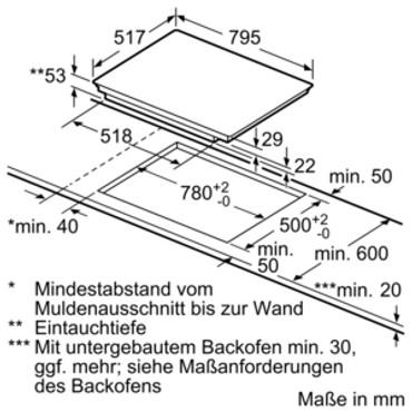 Siemens EX845LVC1E 80 cm Induktions-Kochstelle