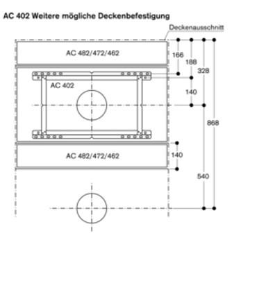 Gaggenau AC 482 181 Vario Deckenlüftung Edelstahl Serie 400
