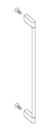 Gaggenau GH 045 010 Möbelgriff mit 2 Halterungen