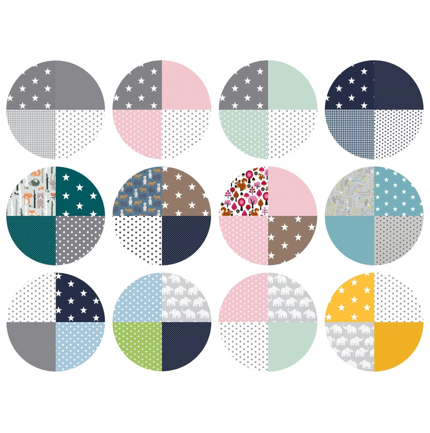 12 unterschiedliche Designs - mehr Individualität für das Babyzimmer