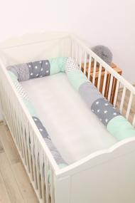 Baby Bettschlange MINT GRAU