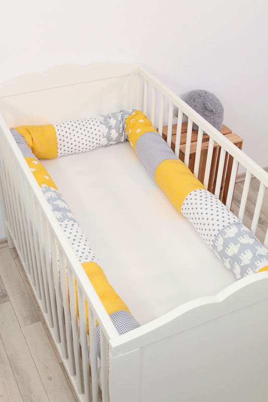 Baby Bettschlange ELEFANT GELB