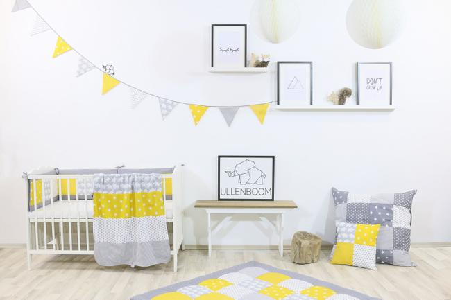 Kinder Bettwäsche-Set 100x135 cm und Kissenbezug 40x60 cm - ELEFANT GELB