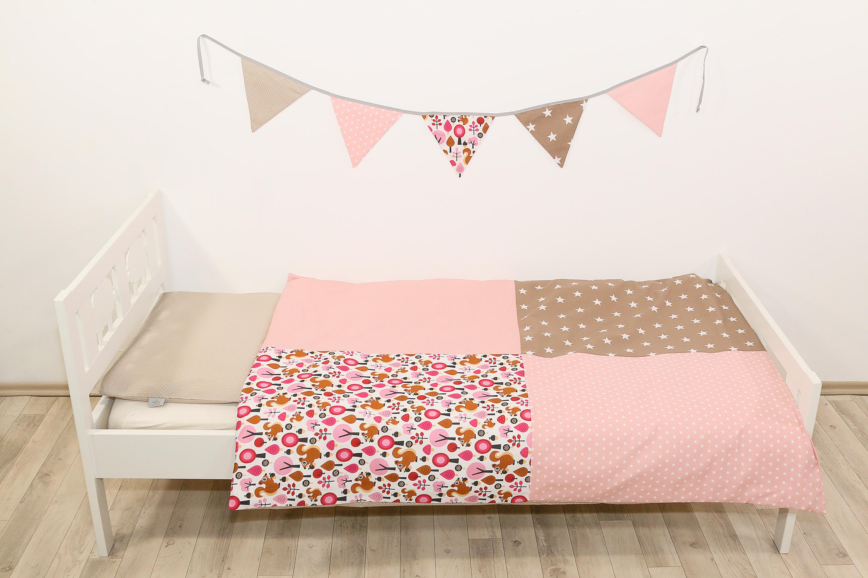 Kinder Bettwäsche Set 100x135 Cm Und Kissenbezug 40x60 Cm Sand