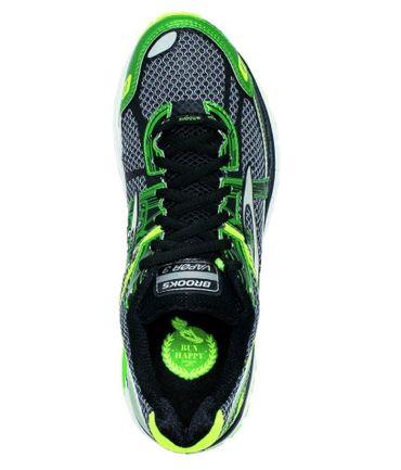 Brooks Herren Laufschuhe Vapor 3 Running Sport Fitness Lauf Schuhe Schwarz Grün – Bild 4